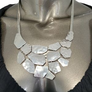 Passion Silver Tone Necklace & earrings